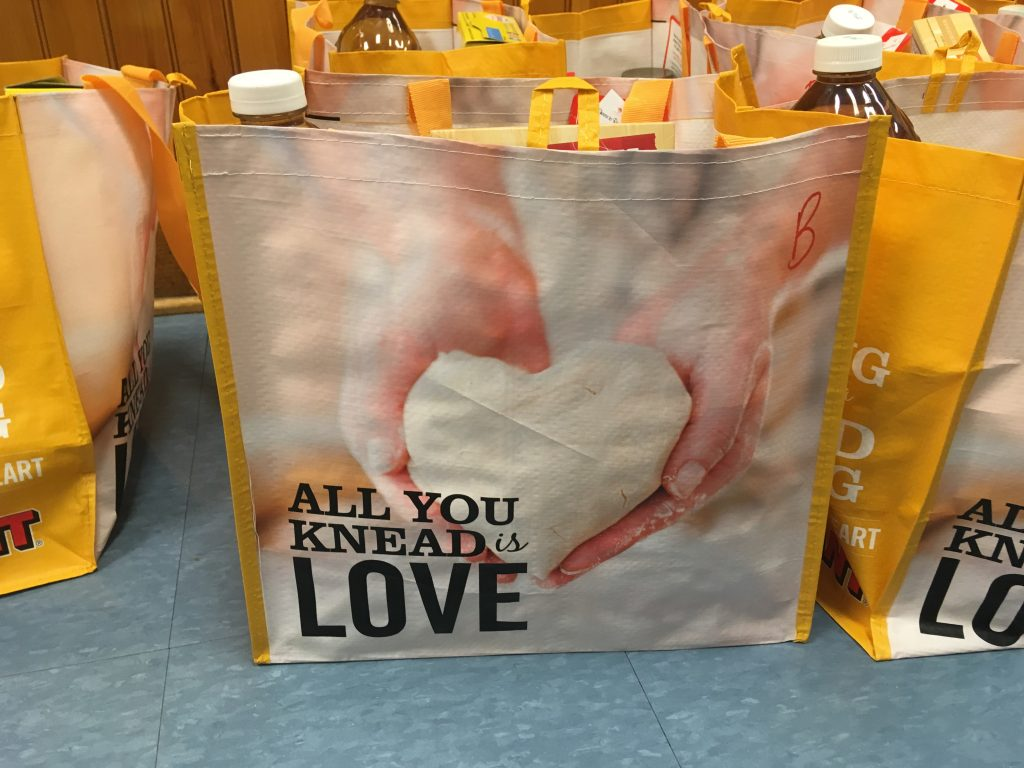 Thanksgiving food donation bag